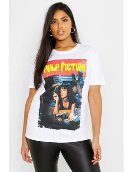 Plus Pulp Fiction T Shirt by Boohoo