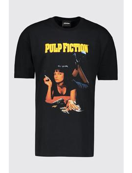 Pulp Fiction Mia Licensed Oversized T Shirt by Boohoo