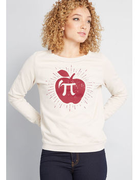 Apple Pi Graphic Sweatshirt by Modcloth