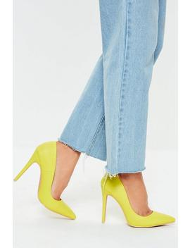 Neon Yellow Faux Leather Court Shoes by Missguided