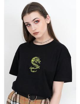 Dragon Shirt   Dragon T Shirt, Neon Green, Embroidered Shirt, Aesthetic Clothing, Aesthetic Shirt, Tumblr Clothing, Tumblr Shirt, Grunge,Y2 K by Etsy