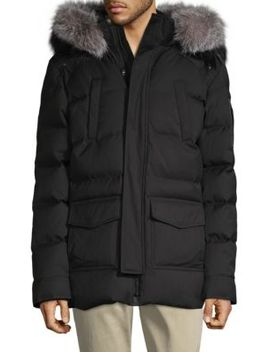 Telluride Series Fox Fur Trim Parka by Maurice Benisti