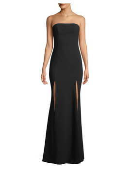 Avalina Strapless Gown W/ Double Slit Skirt by Likely