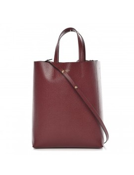 Celine Grained Calfskin Small Vertical Cabas Light Burgundy by Celine
