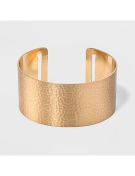 Open Cuff Hammered Metal Bracelet   Universal Thread™ Gold by Universal Thread