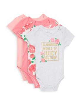 Baby Girl's 4 Piece Bodysuit Set by Juicy Couture