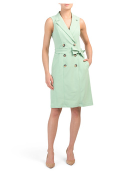 Button Detail Jacket Dress With Belt by Tj Maxx