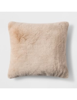Short Faux Fur Square Throw Pillow   Threshold™ by Threshold