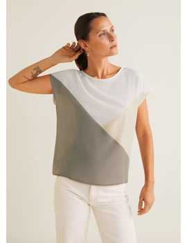 Dreifarbiges T Shirt by Mango