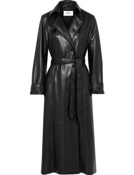 Chiara Vegan Faux Leather Trench Coat by Nanushka
