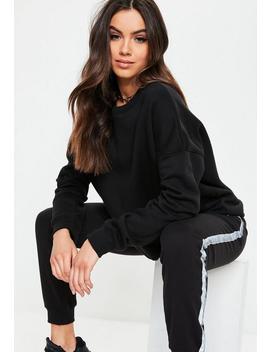 Black Basic Oversized Sweatshirt by Missguided