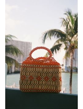Maddie Wooden Beaded Hand Bag by Urban Outfitters