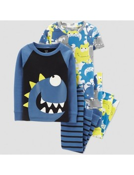 Toddler Boys' 4pc Monster Pajama Set   Just One You® Made By Carter's Blue by Just One You Made By Carter's