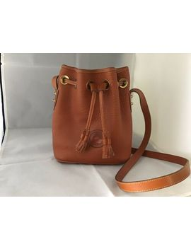 Dooney & Bourke Tan Leather Drawstring Bucket Shoulder Bag by Dooney & Bourke