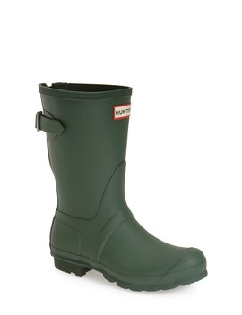 Original Short Back Adjustable Waterproof Rain Boot by Hunter