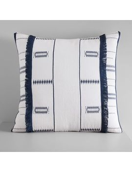 Indigo Stripes + Diamond Pillow Cover by West Elm
