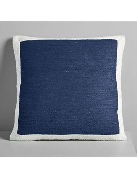 Textured Border Pillow Cover   Midnight by West Elm