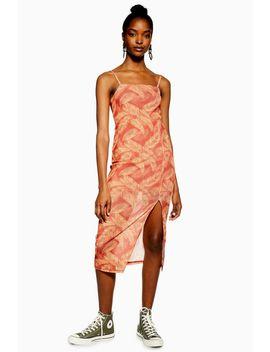 Palm Mesh Slip Dress by Topshop