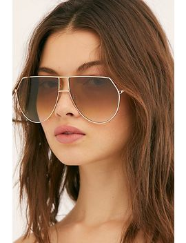 Emmanuelle Oversized Aviator Sunglasses by Free People