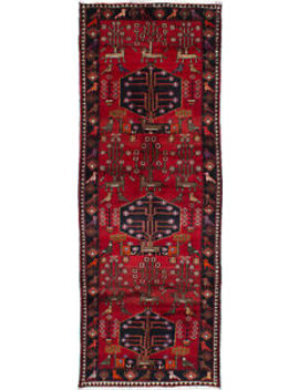 "Hand Knotted Vintage Persian Carpet 3'7"" X 9'8"" Traditional Wool Rug by E Carpet Gallery"