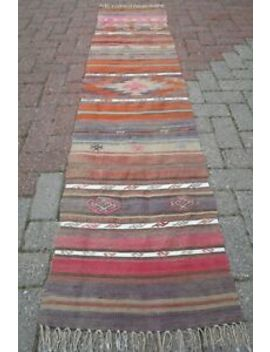 "Turkish Kilim Rug Runner Carpet Runner Long Rug 21,2""X86,2"" Hallway Rug Corridor by Turkish Kelim Runner"