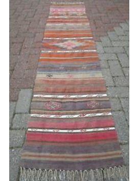 "Turkish Kilim Rug Runner Carpet Runner Long Rug 21,2""X86,2"" Hallway Rug Corridor by Turkish Kelim Runner"