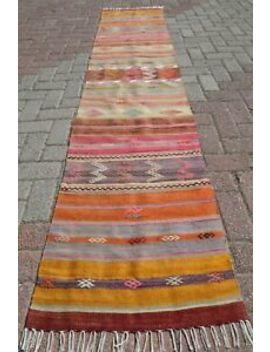 "Turkish Kilim Rug Runner Carpet Runner Long Rug 23,6""X107,4 Hallway Rug Corridor by Turkish Kelim Runner"
