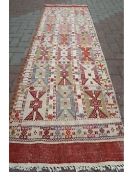 "Turkish Kilim Runner Carpet Runner Long Kelim 29,5""X96,4"" Hallway Rugs Corridor by Turkish Kelim Runner"