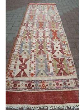 "Turkish Kilim Runner Carpet Runner Long Kelim 29,5""X96,4"" Hallway Rugs Corridor by Turkish Kelim Runner"