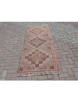 "Turkish Kilim Rug ,Rug,Kilim Rug ,Rugs ,Area Rugs,33"" X 86"",Runners Rug,Carpet by Ebay Seller"