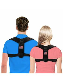 Truweo Posture Corrector For Men And Women   Usa Designed Upper Back Brace For Clavicle Support And Providing Pain Relief From Neck, Back & Shoulder by Truweo