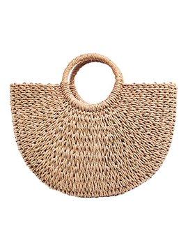 Women Straw Bag Weave Handbags Handwoven For Girls Fashion Tote Bag by Yingar