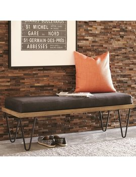 Modern Industrial Inspired Design Accent Bench With Hairpin Legs by Generic