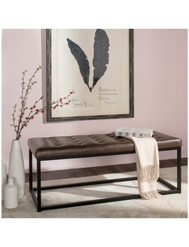 Safavieh Reynolds Brown/ Black Bench by Safavieh