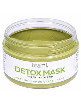Detox Face Mask By Teami | Our 100 Percents Best Green Tea Facial Care Mud Masks With Bentonite Clay For A Natural, Hydrating Cleanse Of Dry Skin That Removes Blemishes | Antioxidant, Moisturizing Anti Aging by Teami