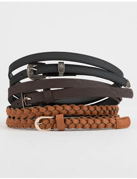 3 Pack Braided Belts by Tilly's