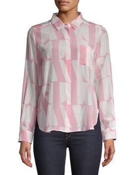 Printed Silk Button Down Shirt by Marella