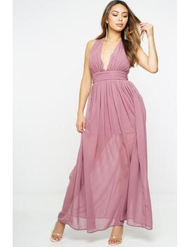 Zoey Maxi Dress   Dark Rose by Want My Look