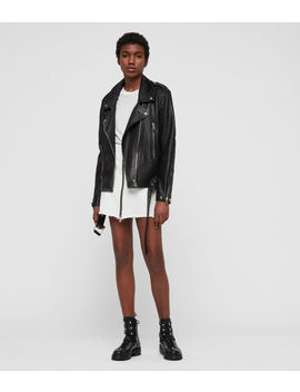 Annina Leather Biker Jacket by Allsaints