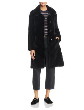 X Z.Rhodes Plucked Mink Fur Coat by Maximilian Furs