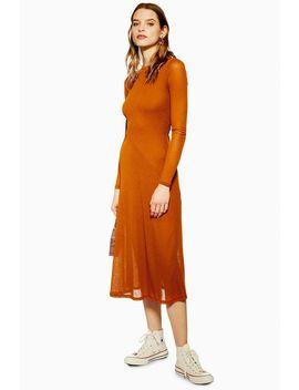 Plain Mesh Midi Dress by Topshop