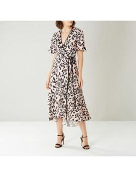 Mila Animal Print Wrap Dress by Coast
