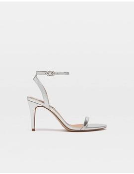 Silver Stiletto Heel Sandals by Stradivarius