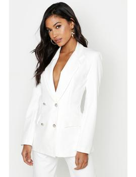 Blazer Style Fonctionnel Coupe Carrée à Double Patte De Boutonnage by Boohoo