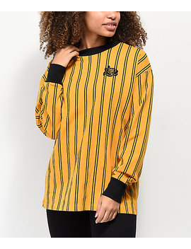 Empyre Velma Yellow & Black Stripe Long Sleeve T Shirt by Empyre