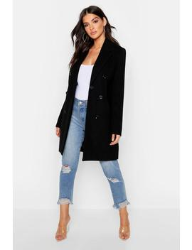 Double Breasted Coat by Boohoo