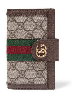 Ophidia Textured Leather Trimmed Printed Coated Canvas I Phone 10 Case by Gucci