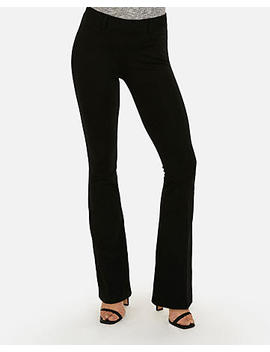 Mid Rise Flare Leg Stretch Ponte Pant by Express