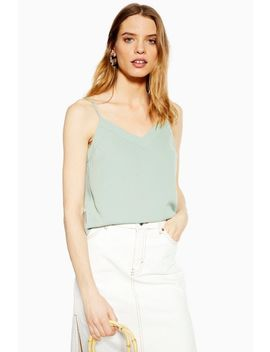 Sage V Neck Insert Camisole Top by Topshop