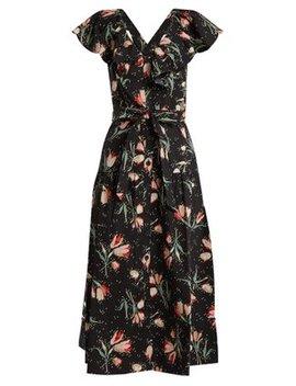 Ikat Floral Print Cotton Dress by Rebecca Taylor